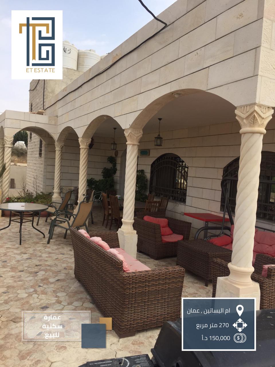 عمارة سكنية للبيع في ام البساتين في عمان